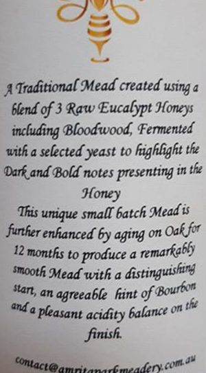 Traditional Mead Spring 2018